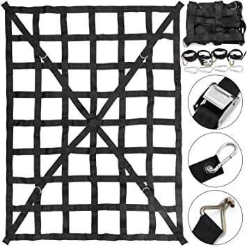 US Cargo Control 82 x 50 Long Bed Pickup Truck Cargo Net with Cam Buckles /& S-Hooks