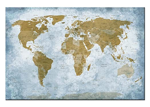 Dsign24 world map print on canvas picture mural 3543 x 2362 dsign24 world map print on canvas picture mural 3543 x 2362 gumiabroncs Images