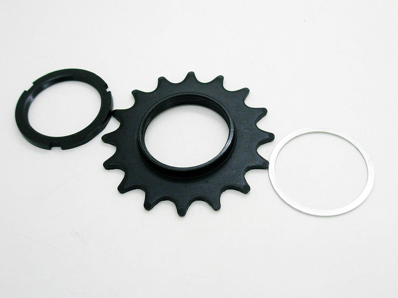 Piñon FIJO Z18 Bicicleta FIXIE 16 dientes + Contratuerca Lockring ...