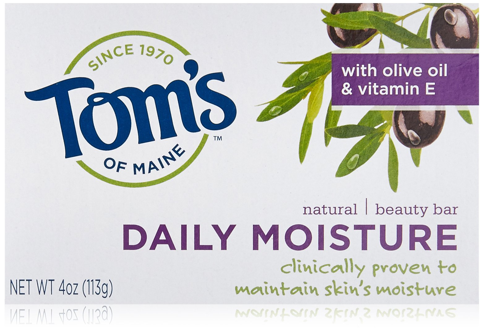Tom's of Maine Moisturizing Bar Daily, 4-Ounce Bar, Pack of 6 by Tom's of Maine (Image #1)