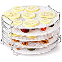 AIEVE Air Fryer Dehydrator Rack with Silicone Dehydrator Sheets, Stainless Steel Dehydrator Stand Air Fryer Rack…