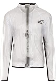 Fox Racing MX Fluid Jacket Mens Off-Road Motorcycle Rain Gear - Clear / Medium