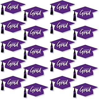 product image for Big Dot of Happiness Purple Grad - Best is Yet to Come - Graduation Hat Decorations DIY Purple Graduation Large Party Essentials - 20 Count