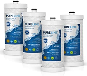 Frigidaire WFCB & WF1CB Water Filter Replacement. Compatible Frigidaire Models: WF1CB, NGRG 2000, WFCB, RG-100.- High End Generic Filter with Advanced Carbon Block Filter-PURELINE (4 Pack)