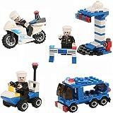 Newisland ブロック おもちゃ 警察車両シリーズ立体パズル 創造力を育てる子供知育玩具 182ピース 誕生日プレゼント