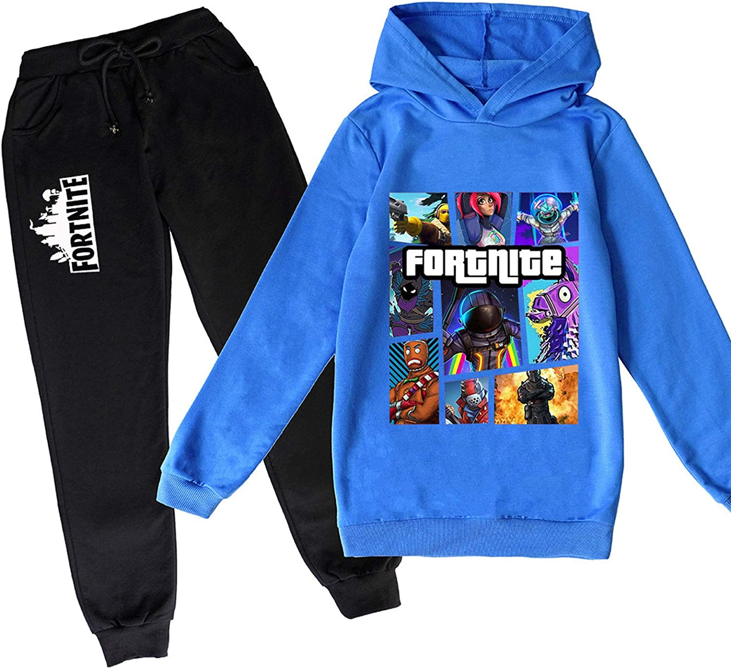 Youth Fortnite Pullover Hoodie and Sweatpants Suit for Boys Girls...