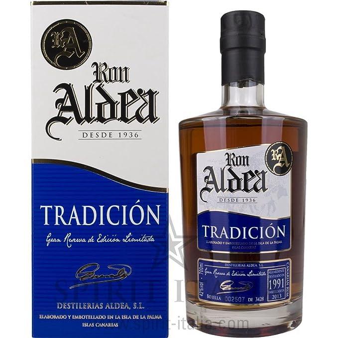 Ron Aldea TRADICIÓN Gran Reserva de Edición Limitada + GB 42,00% 0.7 l.: Amazon.es: Alimentación y bebidas