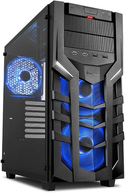 Sharkoon DG7000-G RGB – Caja de Ordenador, PC Gaming, Semitorre ATX, Negro: Sharkoon: Amazon.es: Informática