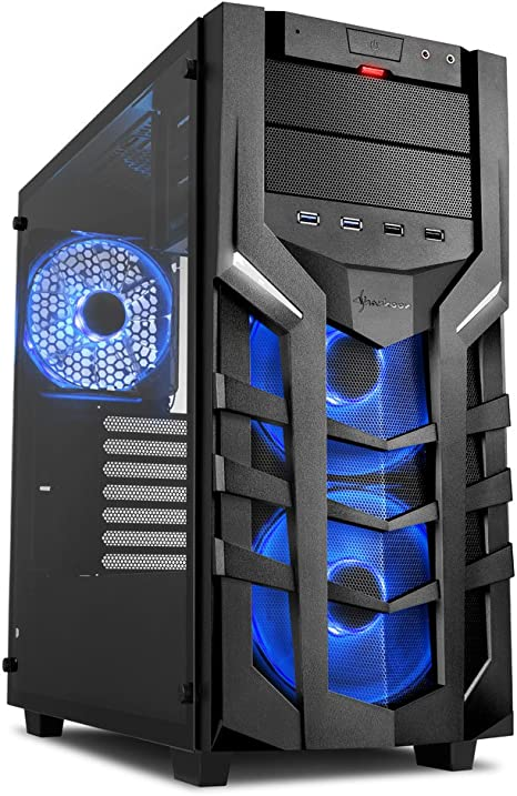 Sharkoon DG7000-G RGB – Caja de Ordenador, PC Gaming, Semitorre ATX, Negro: Sharkoon: Amazon.es: Informática