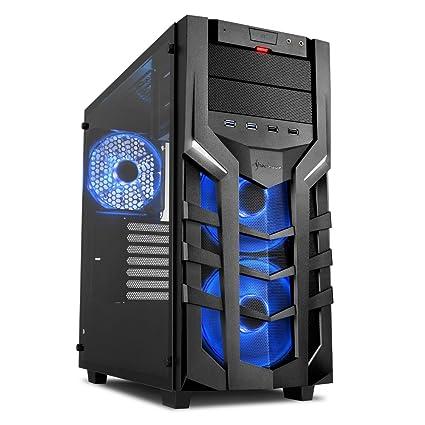 Sharkoon DG7000-G RGB – Caja de Ordenador, PC Gaming, Semitorre ATX, Negro