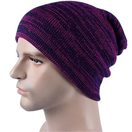 38a93cfeff1 Image Unavailable. Image not available for. Color  Challyhope Men  Comfortable Warm Cashmere Winter Crochet Hat Ski Knit ...