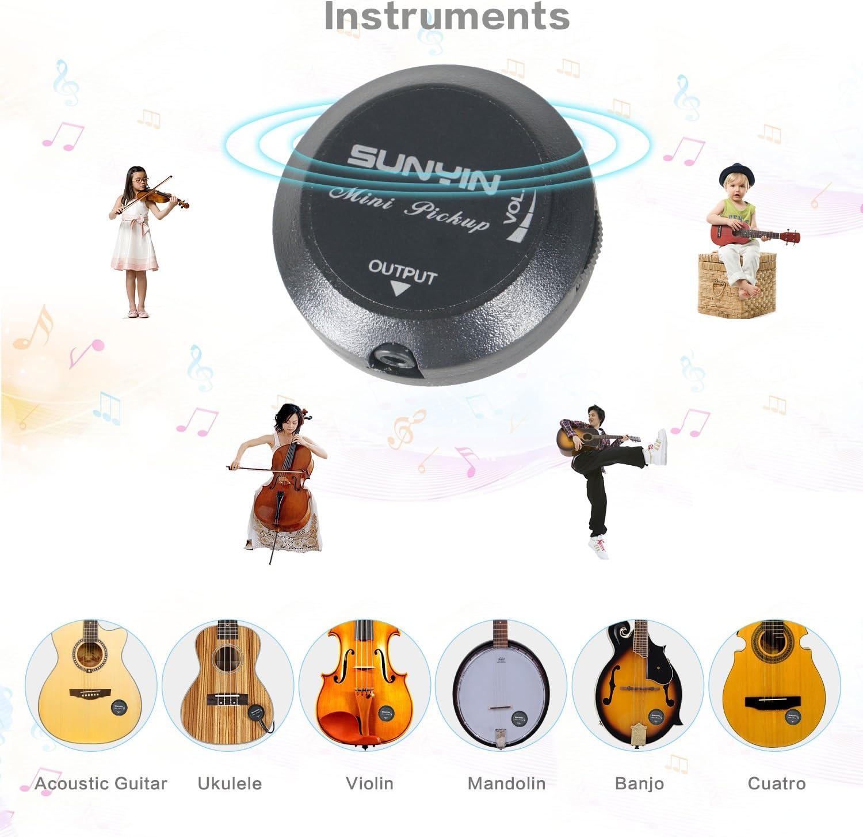 Mandoline usw. für Gitarre Cherub WCP-60G Tonabnehmer Ukulele