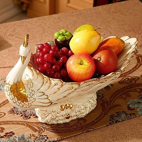 Qtqhome Fruit Tray Fruit Bowl European Ceramic Decoration Elegant Fruit Plate Snack Plate Storage Basket Porcelain Fruit Tray Holder Crafts Wedding Gifts Fruit Bowls Size B Home Kitchen
