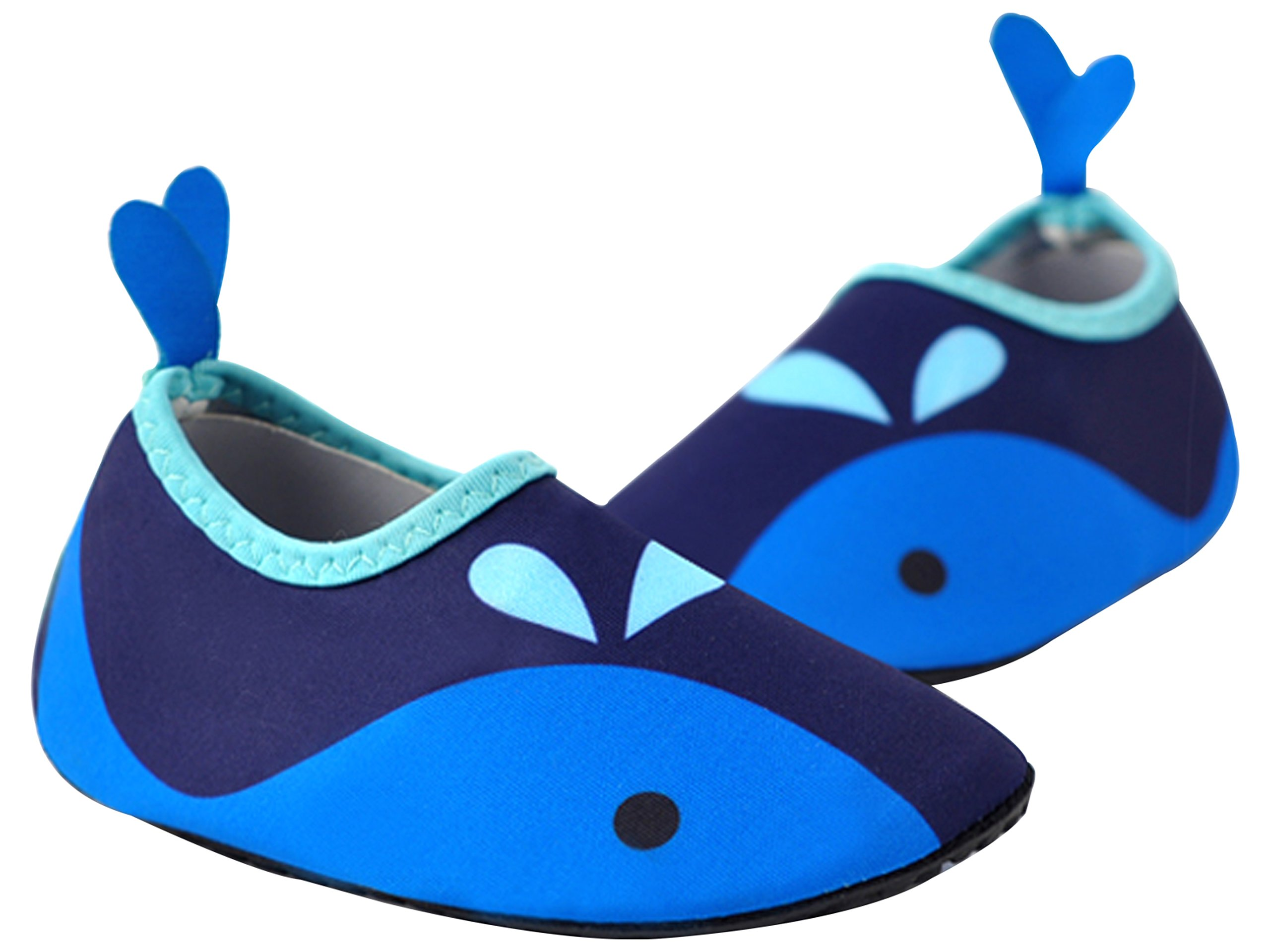 Ozkiz Boys Penguin Aqua Sock Water Skin Shoes Blue Small