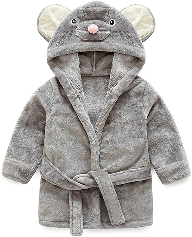 100/% Baumwolle Little Hand Kapuzenhandtuch Baby:Badet/ücher mit Kapuze f/ür Jungen und M/ädchen Grauer s/ü/ßer Maus Baby-Bademantel 0-5 Jahre.