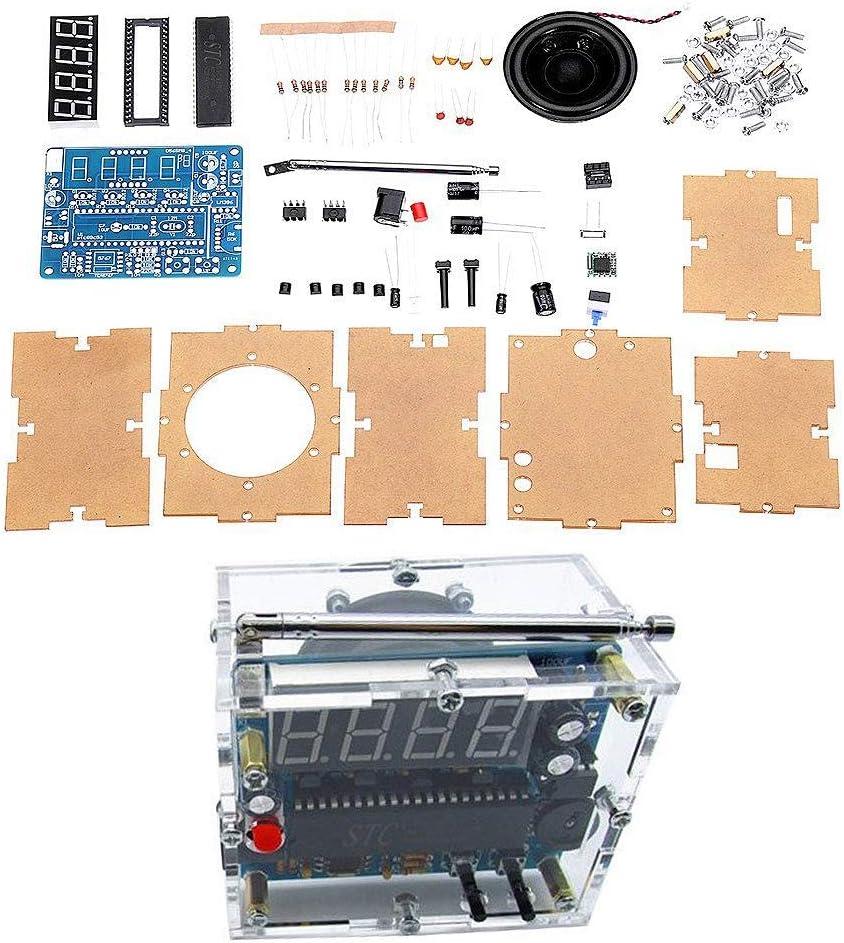 SODIAL Tea5767 DC 4.5V-5.5V DIY Mini Digital Radio FM 87Mhz-108Mhz 2W 8Ohm Kit De Electrónica para Parlantes - Kits Compatibles con para Arduino Y DIY Kits
