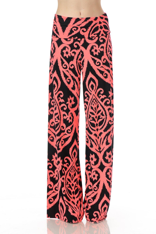 12TREES PANTS レディース B077GDVLPM XL|J264dm Neon Pink Black J264dm Neon Pink Black XL