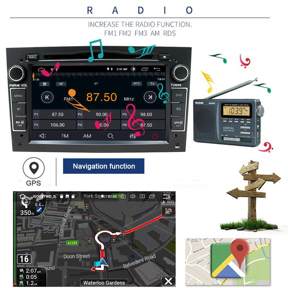 Coche estéreo Android 8,1 radio reproductor de DVD GPS NAVI 7 pulgadas IPS 2 DIN encaja para Opel Antara Vectra Crosa Vivaro Zafira Meriva cámara Bluetooth ...