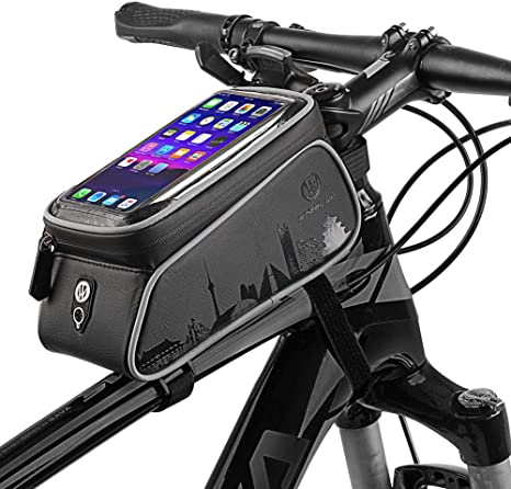 Bicycle Frame Pannier Cross Bar Top Tube Bike Bag Durable Mobile Phone Holder UK