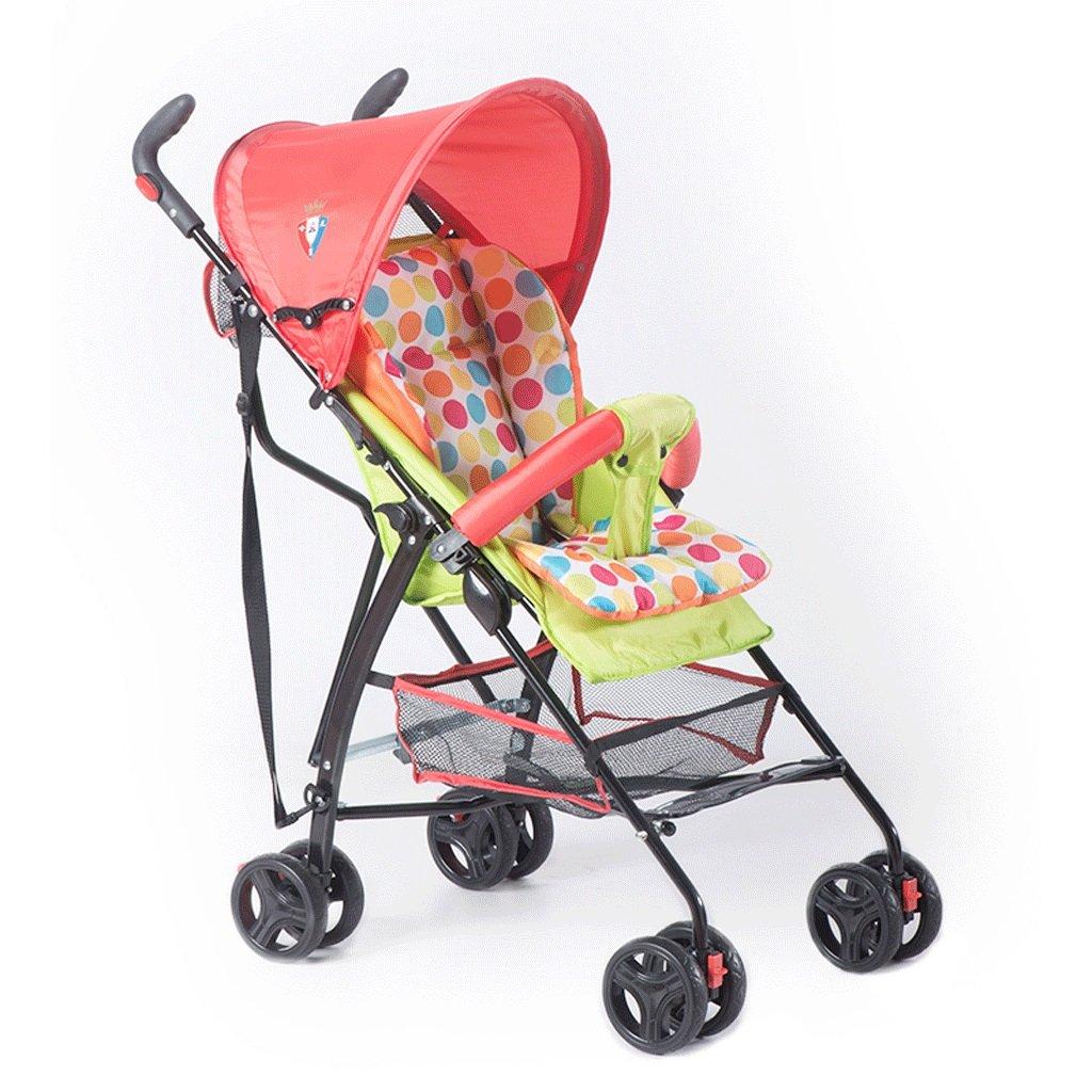 赤ちゃんのベビーカー超軽量ポータブル折りたたみリクライニング子供傘の車(緑)63 * 48 * 97cm B07BVJ35KS