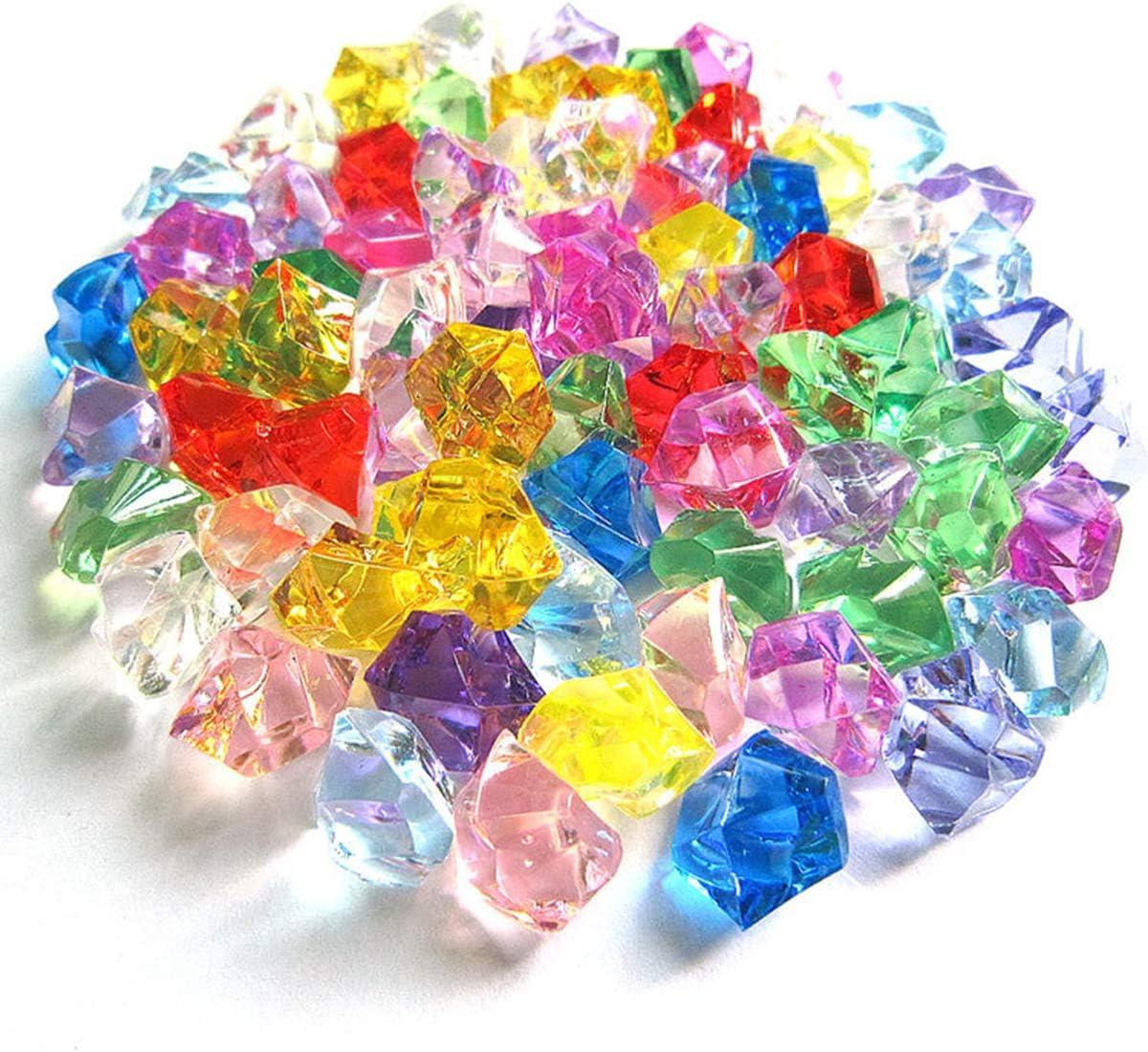Piedras de Hielo Falsas,100 PCS Transparentes de Diamantes Falsos Cubitos de Acr/ílico Cubos Cuadrados de Cristal Pl/ástico Gemas para Rellenos de Jarrones Dcoraci/ón de Mesas Bodas Hogar 16 x 22 mm