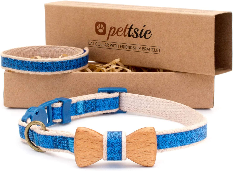 7. Pettsie Breakaway Cat Collar Bowtie and Friendship Bracelet
