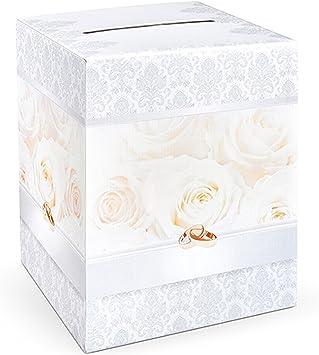 PartyDeco PUDTP2-KARTON – Caja para sobres para regalo de novios.: Amazon.es: Juguetes y juegos