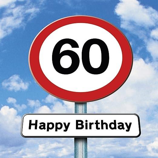 Twizler Tarjeta de 60º cumpleaños - Roadsign - 60 años de ...
