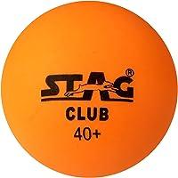 Stag Club-O Plastic Table Tennis Ball, 40mm Pack of 6 (Orange)