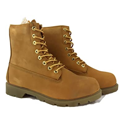 LABO Fuda Men's Leather Working Boot - 8106-16-TAN-11.5: Shoes