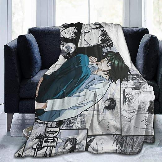 Gene Steinbeck Death Note-L Anime Print Ultra-Soft Micro Fleece Bed Throw Blanket Soft Light Weight Blanket 50
