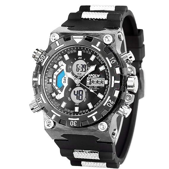 Amazon.com: SIBOSUN Reloj deportivo digital con esfera ...
