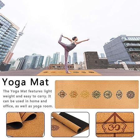 Kardu.C - Esterilla de Goma Natural para Yoga, Corcho, Yoga ...