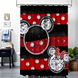 DISNEY COLLECTION Shower Curtain Mickey Mouse Bathroom Shower Curtains with Hooks