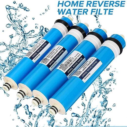 Filtrar Sistema de agua sistema purificador de agua de filtración de agua 50/75 / reemplazo 100GPD Home Kitchen ...