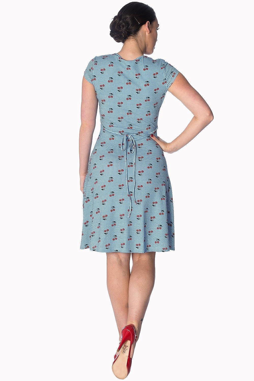 e01d0f94f0ed5 Banned Cherry Love Cap Sleeve Vintage Retro Plus Size Dress  Amazon.co.uk   Clothing