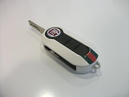 Genuine Fiat 500 Key Cover Gucci In White Amazon Co Uk Kitchen Home
