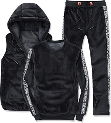 Mens velvet two piece set Casual suit Zip up hoodie and pants Matching velvet set for hm Tracksuit Lounge set Mens outfit