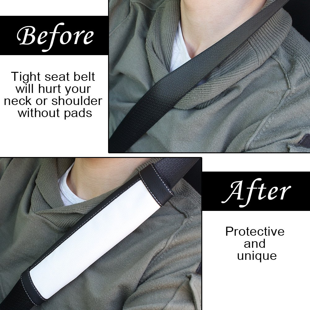 COFIT Black and Gray Seat Belt Pads Pack of 2