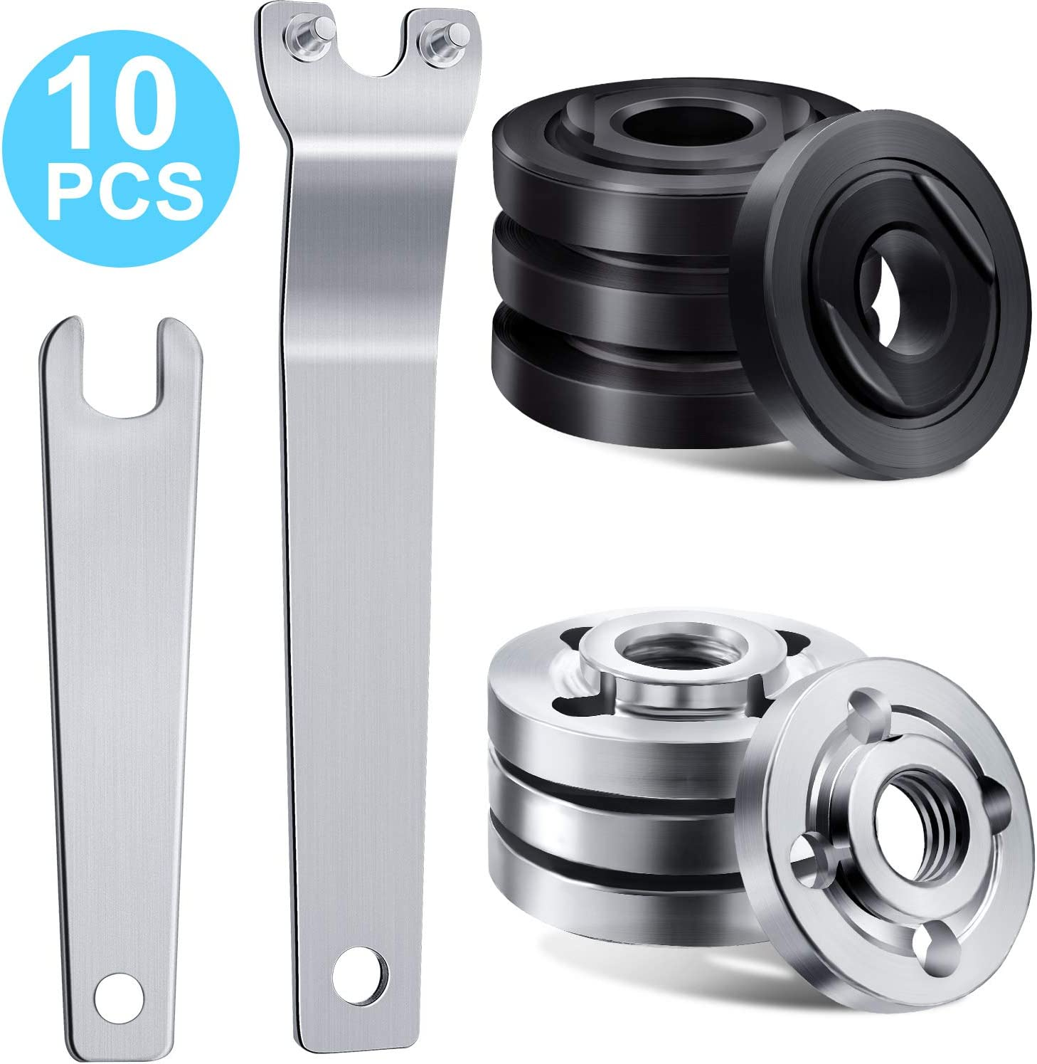 100mm Angle Grinder Replacement Parts - Angle Grinder Spanner and Inner Outer Flange Nut Compatible with Makita and Ryobi