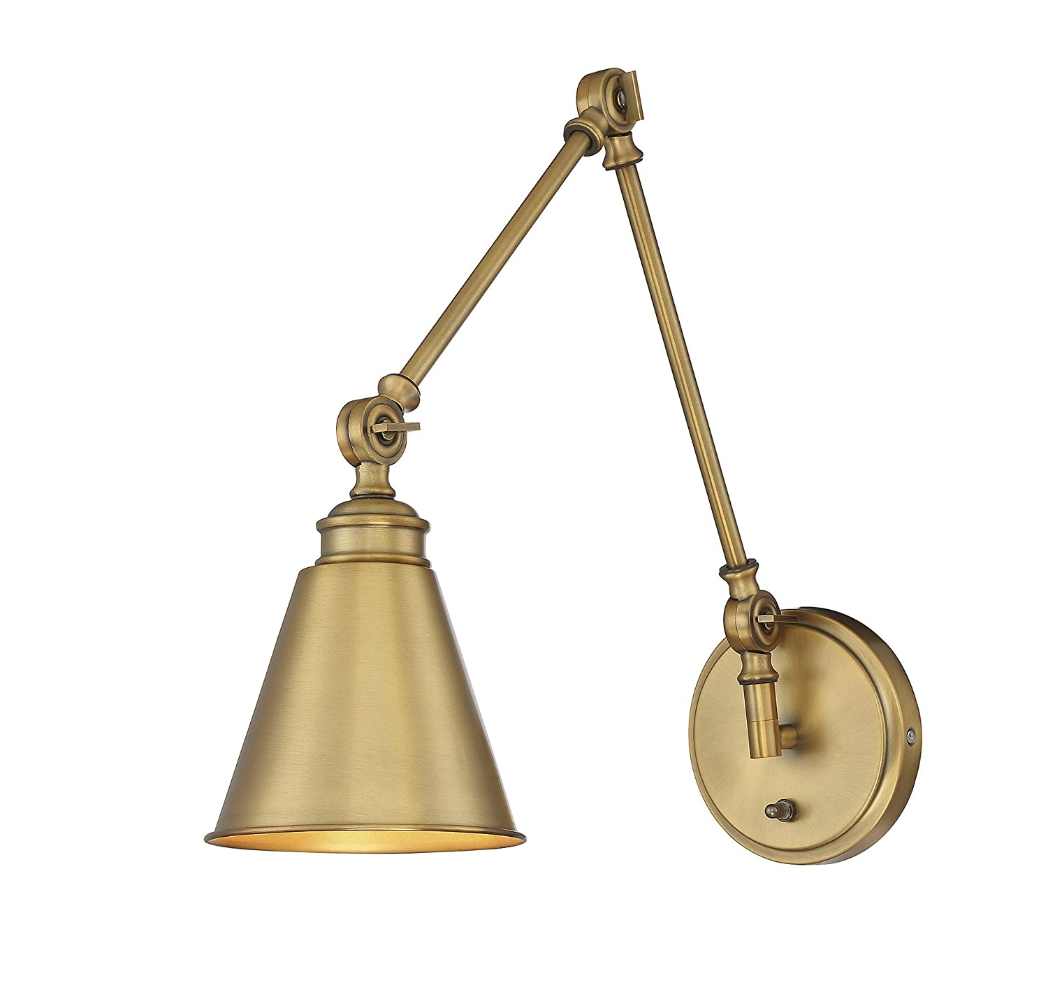 Savoy House 9 961CP 1 322 Morland 1 Light Adjustable Sconce W/Plug In Warm  Brass     Amazon.com