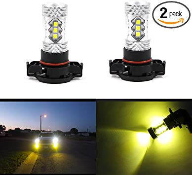 2X High Quality 9005 H10 HB3 Gold Yellow LED Fog Light For Jeep Grand Cherokee
