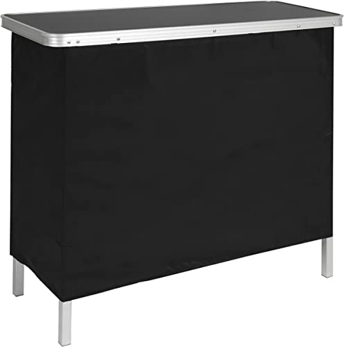 Best Choice Products Portable Pop-Up Bar Table w Carrying Case, Removable Skirt