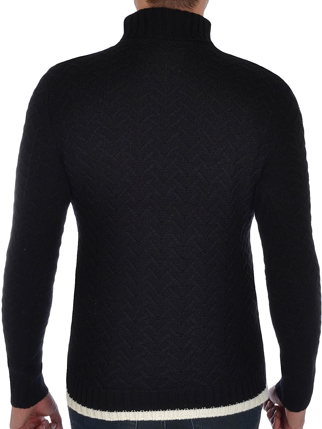 Soul Star Mens Knitted Roll Neck Jumper