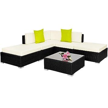 TecTake Hochwertige Aluminium Polyrattan Lounge Sitzgruppe mit ...