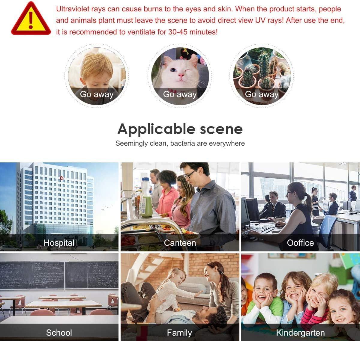 Hochwertige UVC Ozon Sterilisation Lampe AIMENGTE 220V 6//8W Anti Bakterielle Rate 99/% Ozon Desinfektionslampe Desinfektionslicht zur Luftreinigung Ideal f/ür Haushalt /& /Öffentlichen Ort