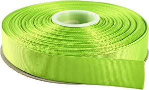 "ITIsparkle 1"" Inch Grosgrain Ribbon 50 Yards-Roll Set for Gift Wrapping Scrap Books Party Favor Hair Braids Hair Bow Baby Shower Decoration Floral Arrangement Craft Supplies, Apple Green Ribbon"