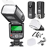 Neewer vk750ii Pro i-TTL Flash * Deluxe Kit * para Nikon DSLR D7100 D7000 D5300 D5200 D5100 D5000 D3200 D3100 D3300 D90 D800 D700 D300 D300s D610, D600 D4 D3S D3 X D3 D200 N90s, F5, F6, F100, F90 F90 x D4S D SLR camera- Incluye: Neewer vk750ii auto-focus Flash + Disparador Inalámbrico + Cables N1-Cord & N3-Cord + Difusor de flash Duro y Suave + Lens Cap Holder