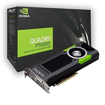 PNY Quadro P5000 Quadro P5000 16GB GDDR5X - Tarjeta gráfica (NVIDIA, Quadro P5000, 7680 x 4320 Pixeles, 16 GB, GDDR5X, 256 bit)
