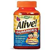 Nature's Way Alive! Children's Premium Gummy Multivitamin, Gluten Free, Made with Pectin, 90 Gummies